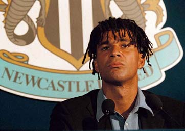 Ruud Gullit as a coach in Newcastle United