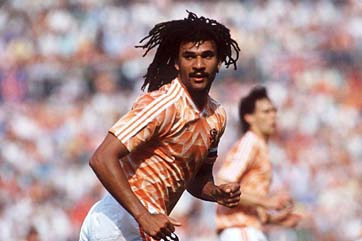Ruud Gullit as a player of Holland's football team